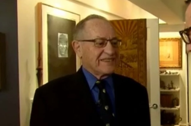 alan dershowitz, via Inside Edition screengrab