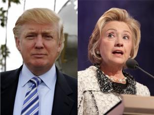 Trump and Clinton via shutterstock