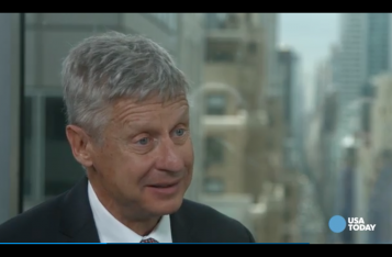 Gary Johnson screengrab via USA Today