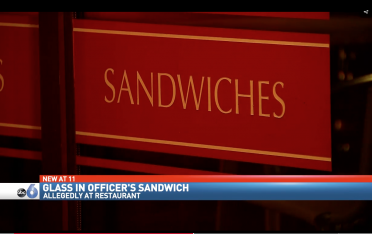 Officer sandwich via screengrab