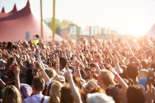 Image of music festival via Shutterstock