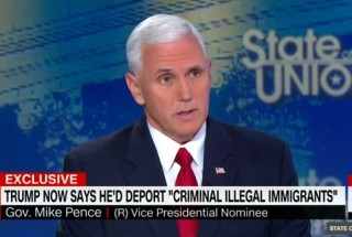 Image of Mike Pence via CNN screengrab
