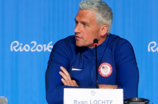 Image of Ryan Lochte via Team USA screengrab