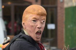 Trump mask via a katz/Shutterstock