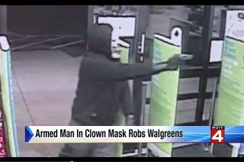 Walgreens clown robbery via screengrab
