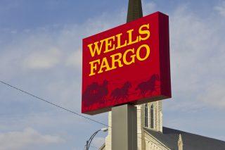 wells-fargo-sign via Jonathan Weiss/Shutterstock