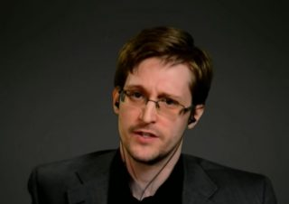 Edward Snowden via University of Chicago screengrab