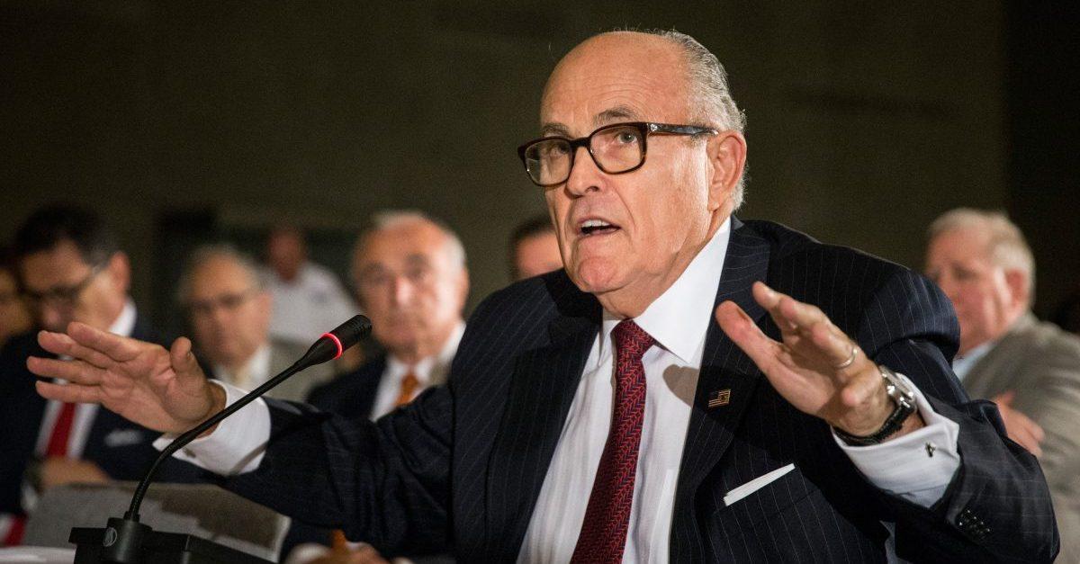 Rudy Giuliani Donald Trump statement clarifying