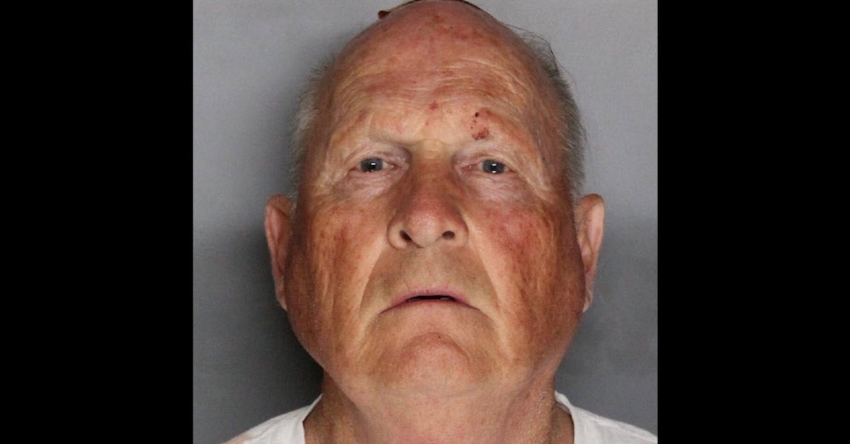 Joseph James DeAngelo Golden State Killer mugshot arrest