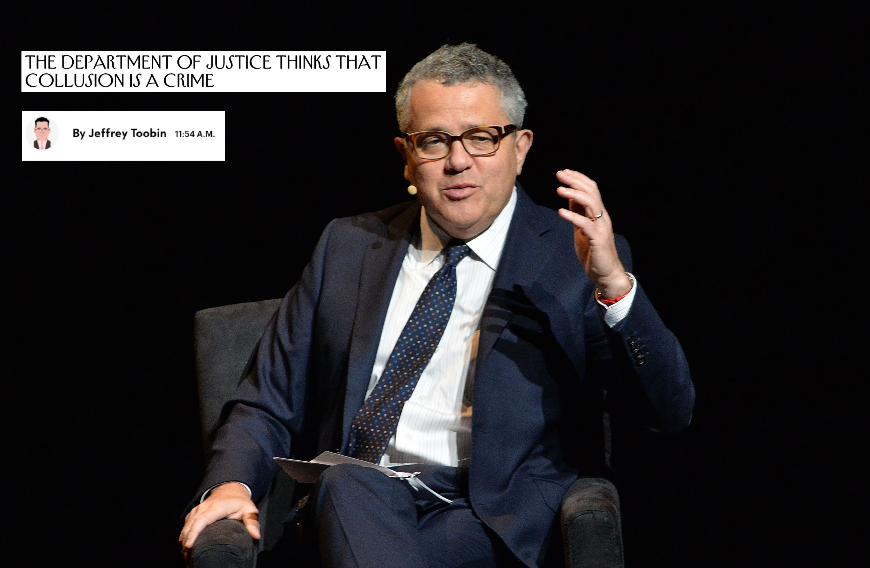 Does Jeffrey Toobin Know How To Read Basic Law Or English?