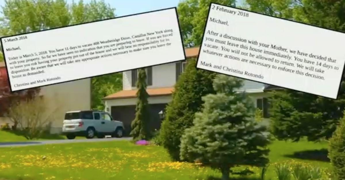 Christina Mark Michael Rotondo lawsuit parents vs 30-year-old son