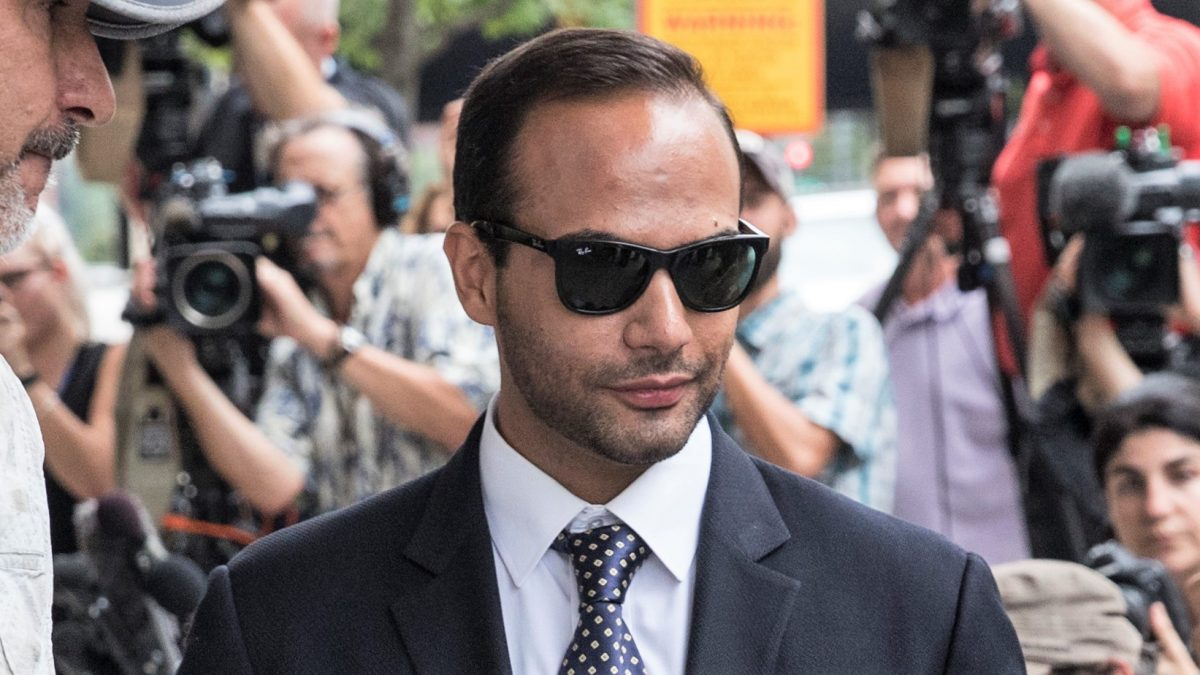 "WASHINGTON, DC - SEPTEMBER 07: Former Trump Campaign aide George Papadopoulos leaves the U.S. District Court after his sentencing hearing on September 7, 2018 in Washington, DC. Papadopoulos pleaded guilty last year for making a ""materially false, fictitious and fraudulent statement"" to investigators during FBI's probe of Russian interference during the 2016 presidential election."