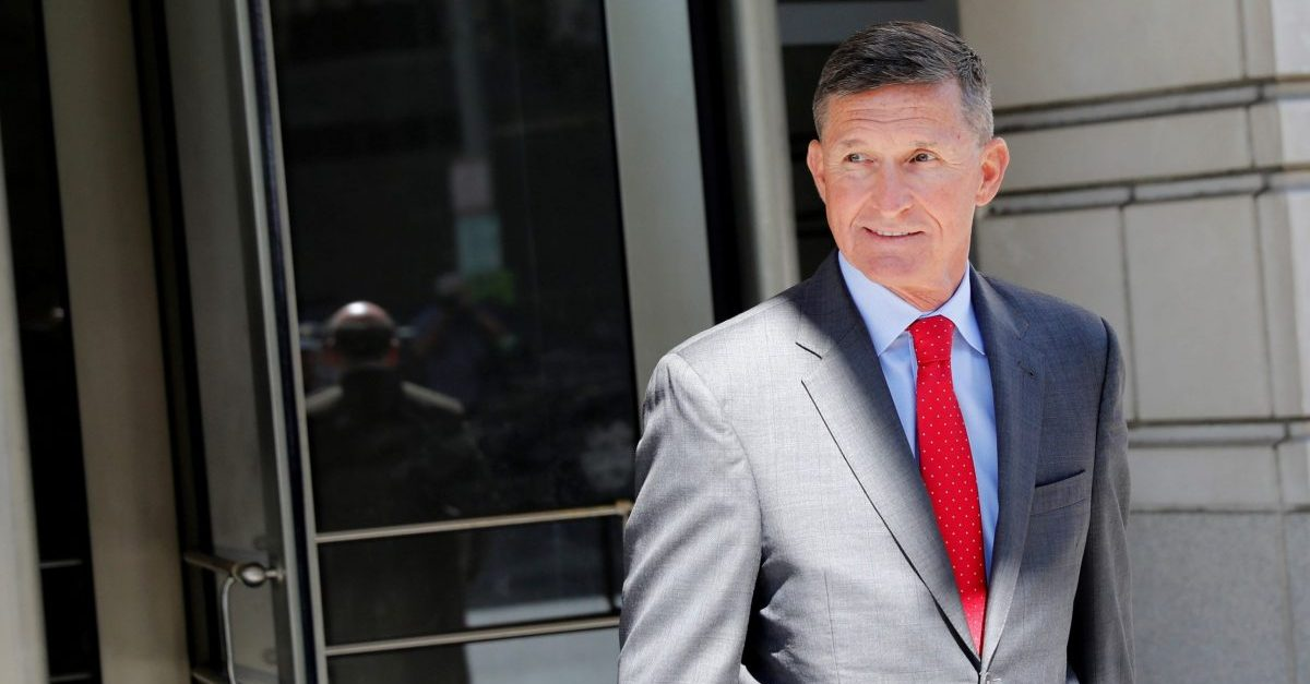 WASHINGTON, DC - July 10: Michael Flynn, former National Security Advisor to President Donald Trump, departs the E. Barrett Prettyman United States Courthouse following a pre-sentencing hearing July 10, 2018 in Washington, DC. Flynn has been charged with a single count of making a false statement to the FBI by Special Counsel Robert Mueller.