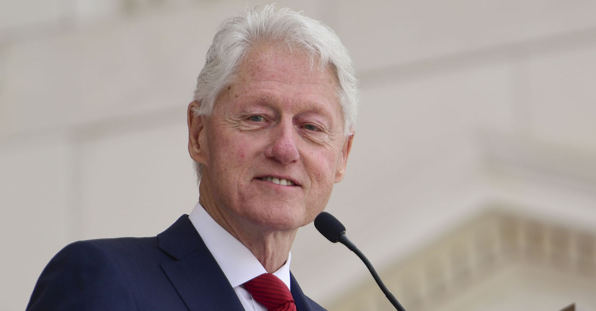 ARLINGTON, VA - JUNE 06: Former President Bill Clinton speaks during a Remembrance and Celebration of the Life & Enduring Legacy of Robert F. Kennedy event taking place at Arlington National Cemetery on June 6, 2018 in Arlington, Virginia.
