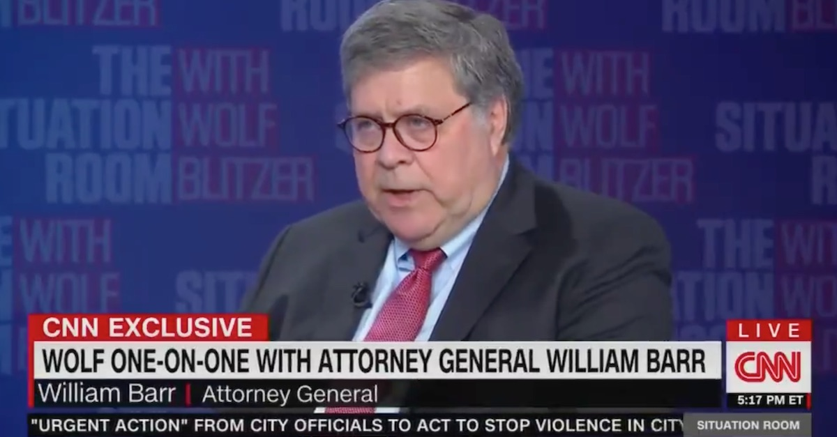 Attorney General Barr: Universal Mail-In Voting 'Playing With Fire'