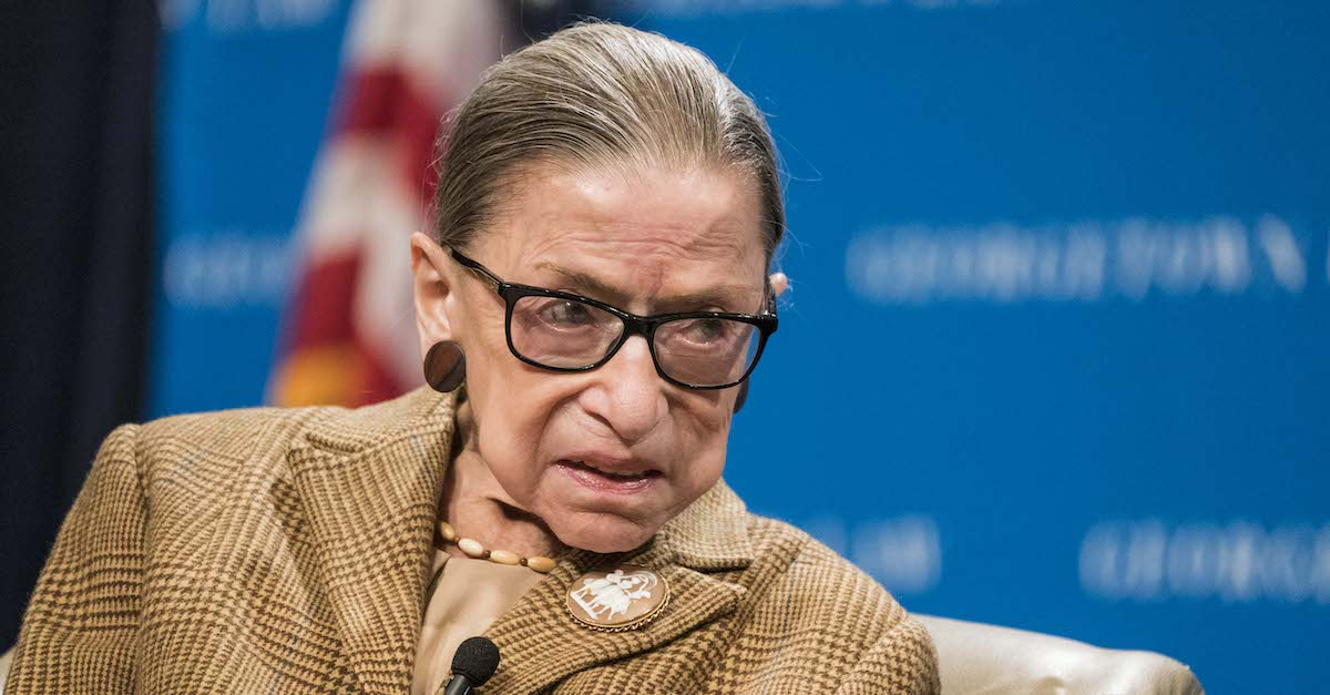 WASHINGTON, DC - FEBRUARY 10: U.S. Supreme Court Justice Ruth Bader Ginsburg participates in a discussion at the Georgetown University Law Center on February 10, 2020 in Washington, DC. Justice Ginsburg and U.S. Appeals Court Judge McKeown discussed the 19th Amendment which guaranteed women the right to vote which was passed 100 years ago.
