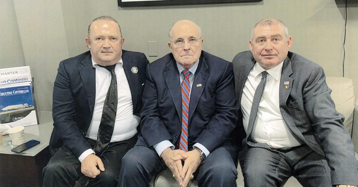 Lev Parnas, Rudy Giuliani, and Igor Fruman