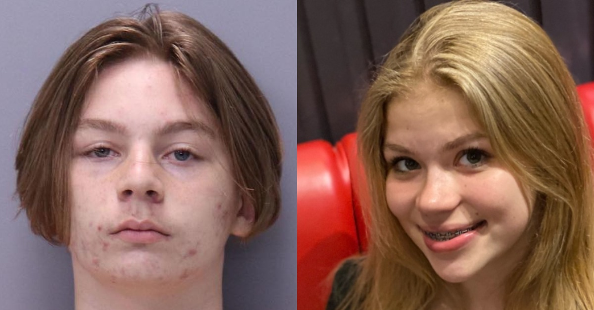 Aiden Fucci appears in a mugshot. Tristyn Bailey appears in a photo.