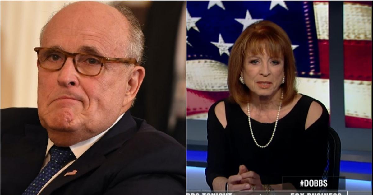 Rudy Giuliani and Victoria Toensing