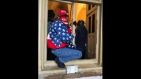 Woman identified as Jody Lynn Tagaris pictured inside Capitol window.