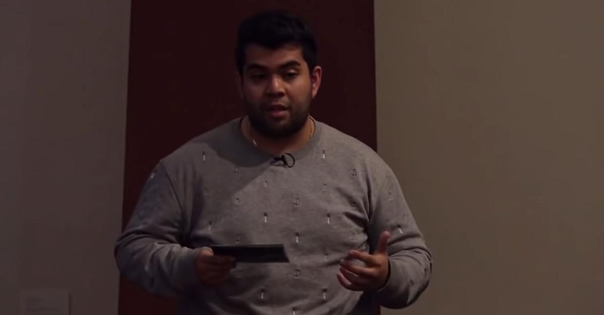 Joel Davis giving a TED Talk