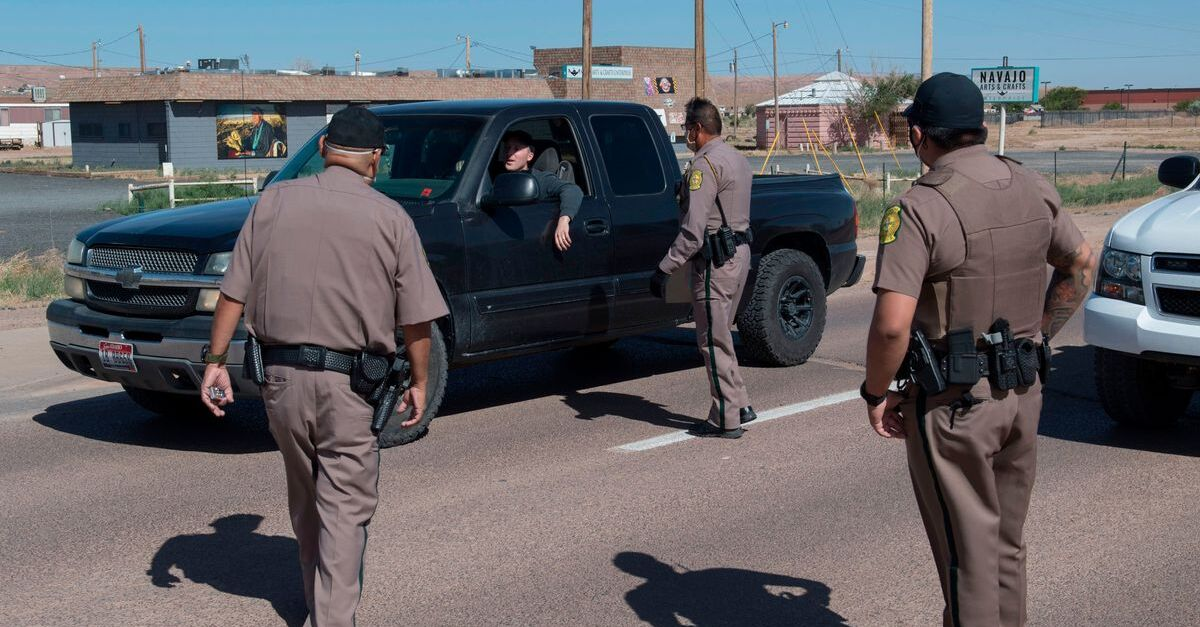 Tribal officers stop a driver