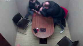 Terrell Rhodes reportedly grabbing the gun from a police officer's waist during an interrogation.