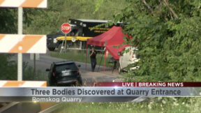 An image of the murder scene at a Wisconsin quarry