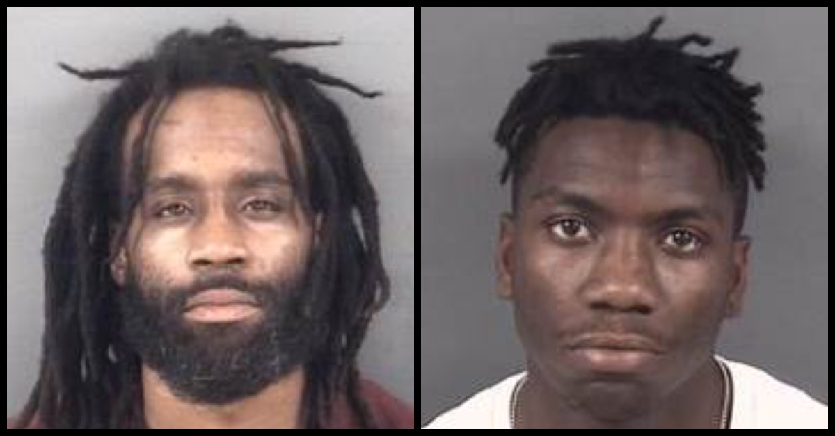 Raymond Earl Holmes Jr and Sincere Perry appear in mugshots