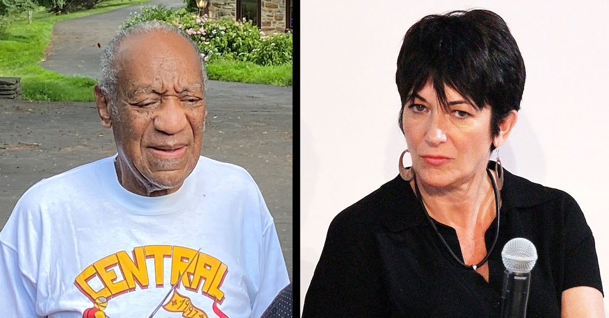 Bill Cosby and Ghislaine Maxwell appear in file images.