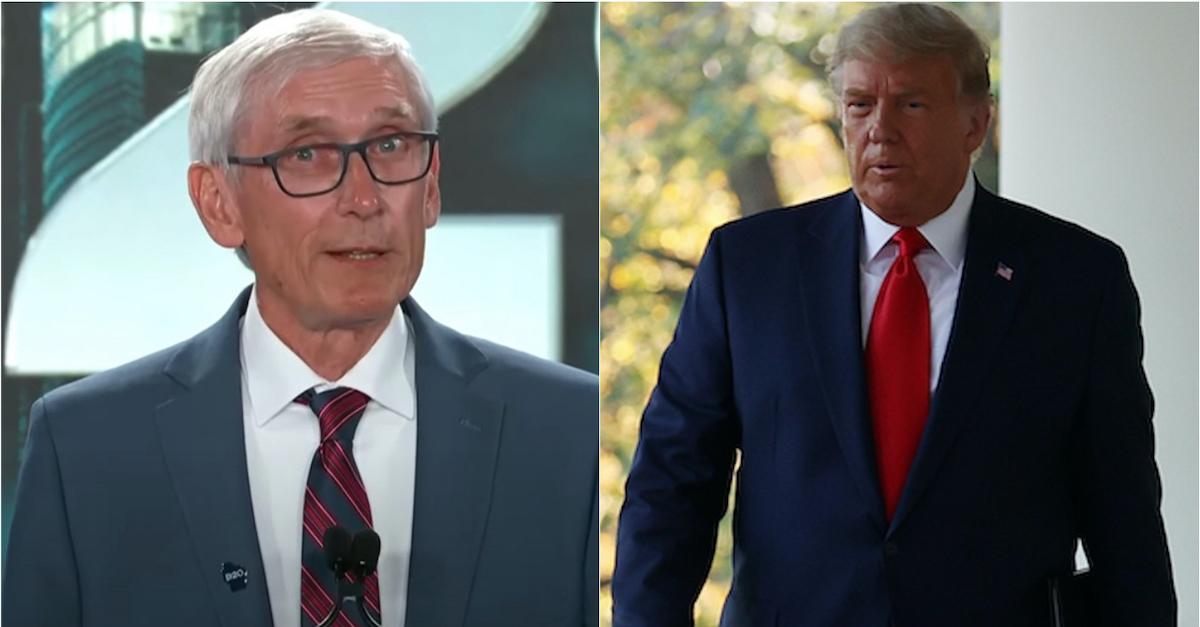Gov. Tony Evers and former President Donald Trump