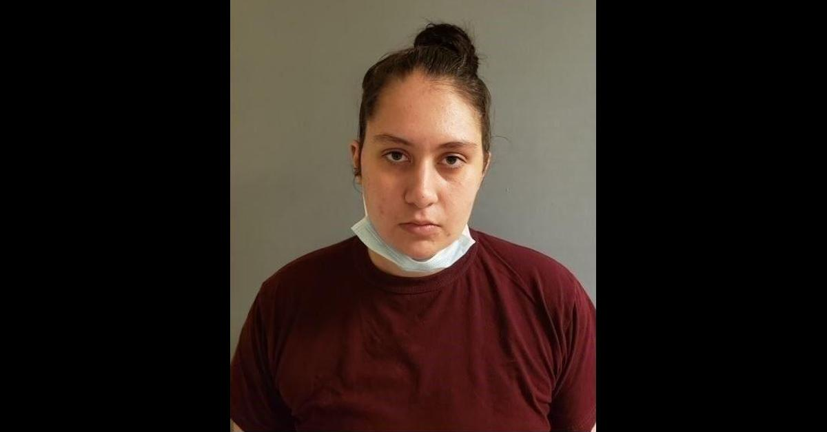 Harlee Swolls appears in an Enfield, Conn. Police Department mugshot.