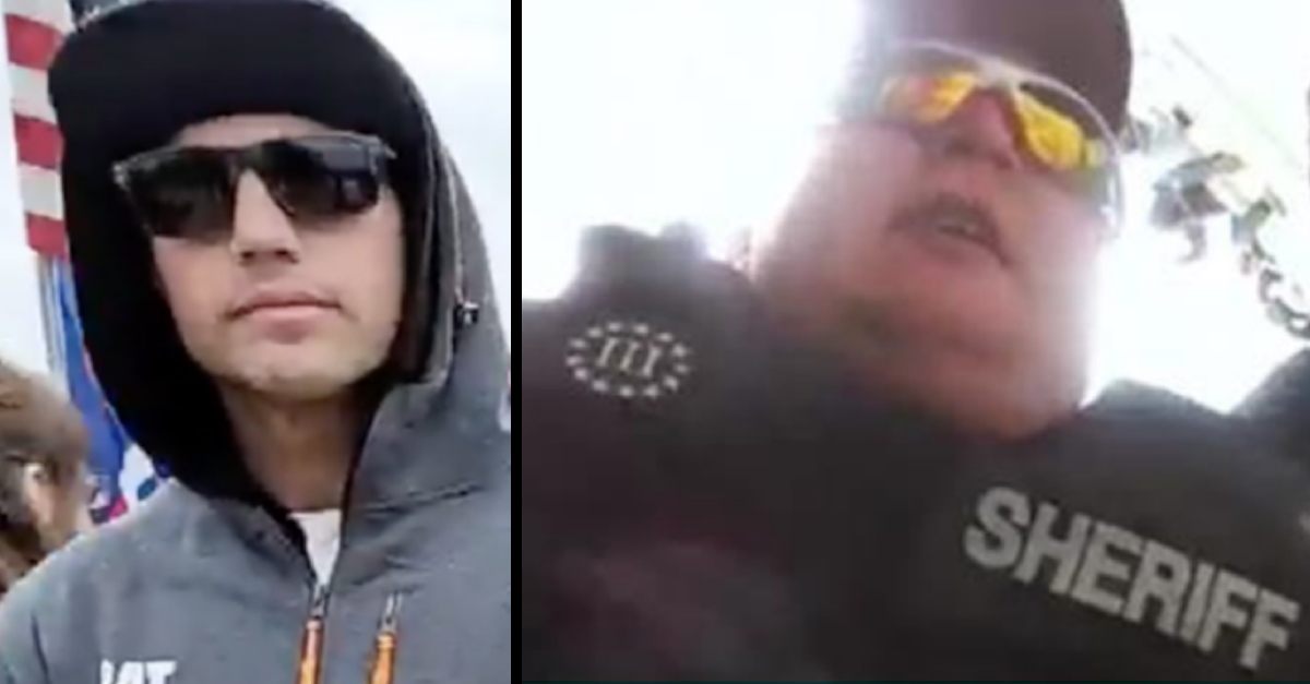 Logan James Barnhart (left) and Ronald Colton McAbee (right) are seen in FBI handout images.