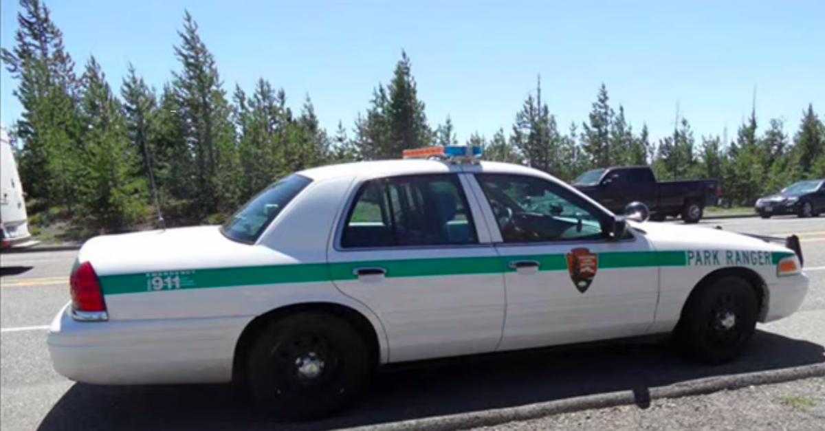 Yellowstone National Park ranger car