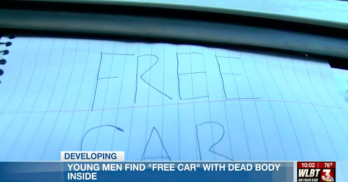 Free Car sign via WBLT