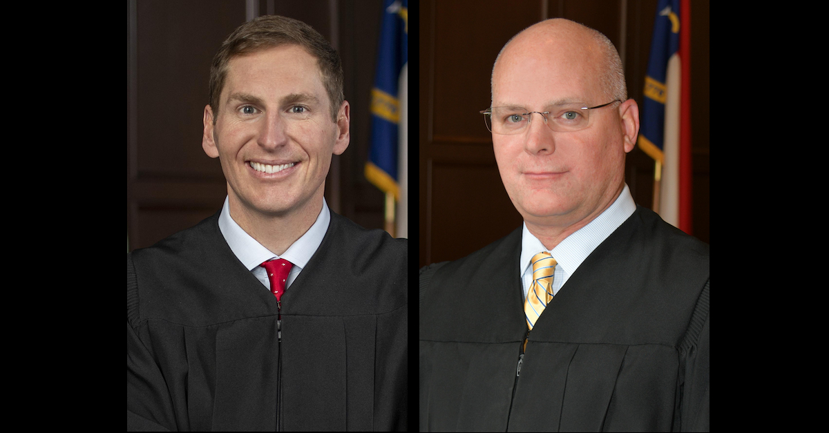 Judges Jefferson Griffin and Jeffrey Carpenter appear in official state portraits.