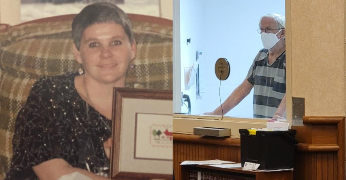 Kathy Thomas in photo, and Brian Clifton