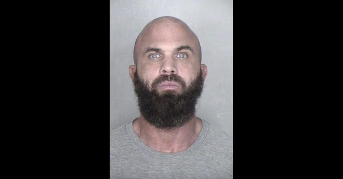 Matthew Boehm appears in a mugshot