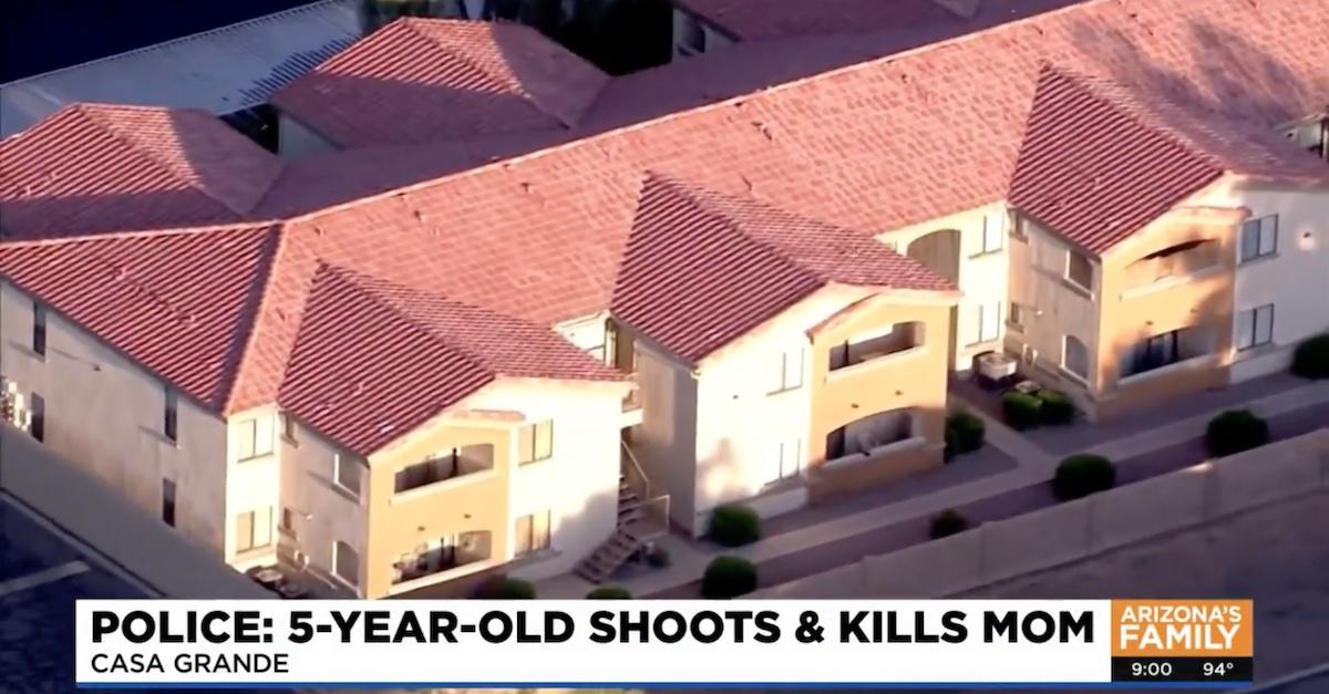 The Colony Apartments in Casa Grande, Ariz., where Michele Cox was shot dead on Friday.