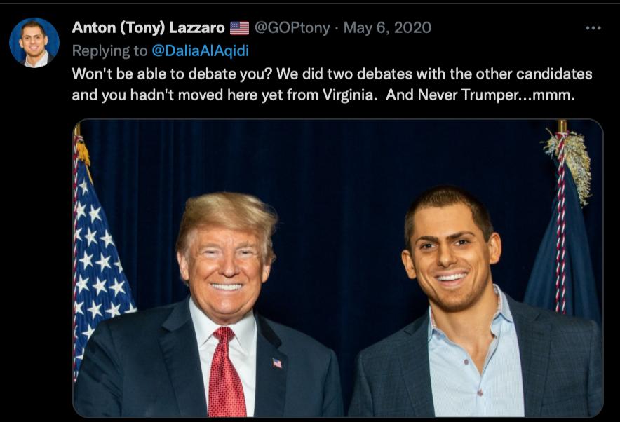 Image from Anton Lazzaro's Twitter account