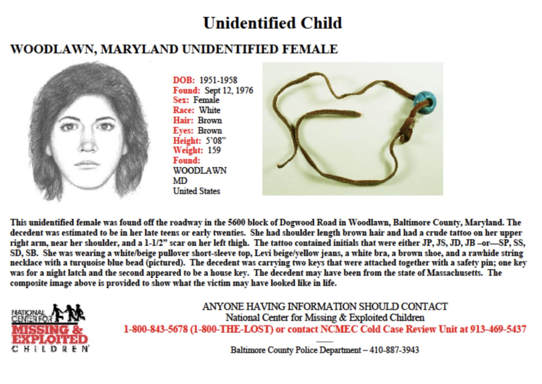 Margaret Fetterolf missing person flyer