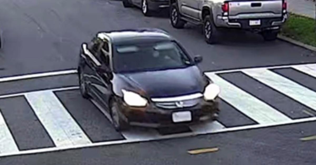Suspect vehicle: a black Honda Accord.