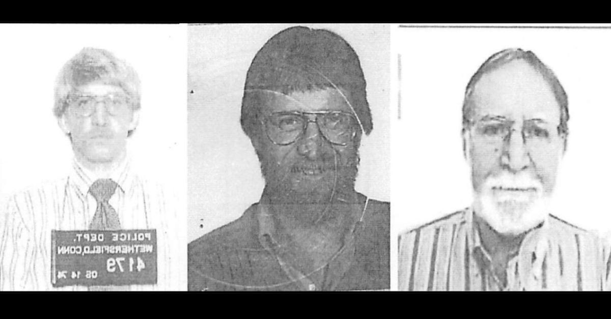 Douglas Edward Bennett in 1974 booking photo, 1982 passport application, and 2016 passport application