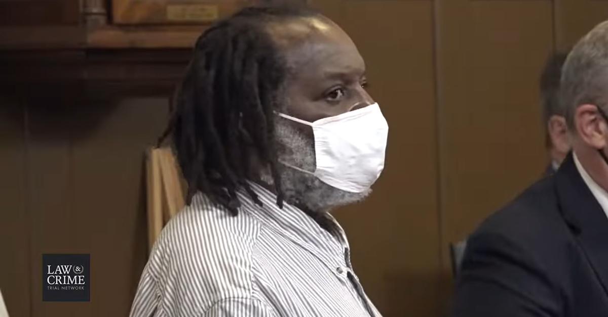 Stanley Ford in court, awaiting verdict on Sept. 21, 2021.