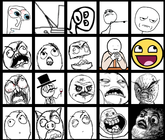 The Periodic Table Of Memes Rage Faces Humor Meme The Mary Sue