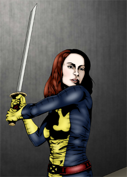 Felicia Day as Kitty Pryde by drawing-bored.tumblr.com