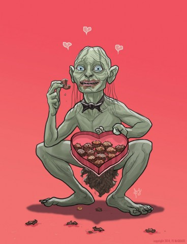 Gollum-Lord-of-the-Rings-Valentine's-Day-card-PJ-McQuade