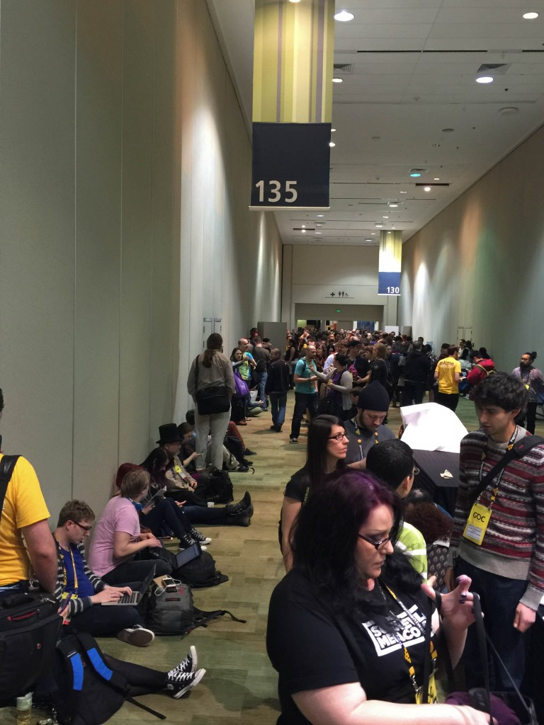 The line outside the #1ReasonToBe panel. The room was absolutely PACKED.