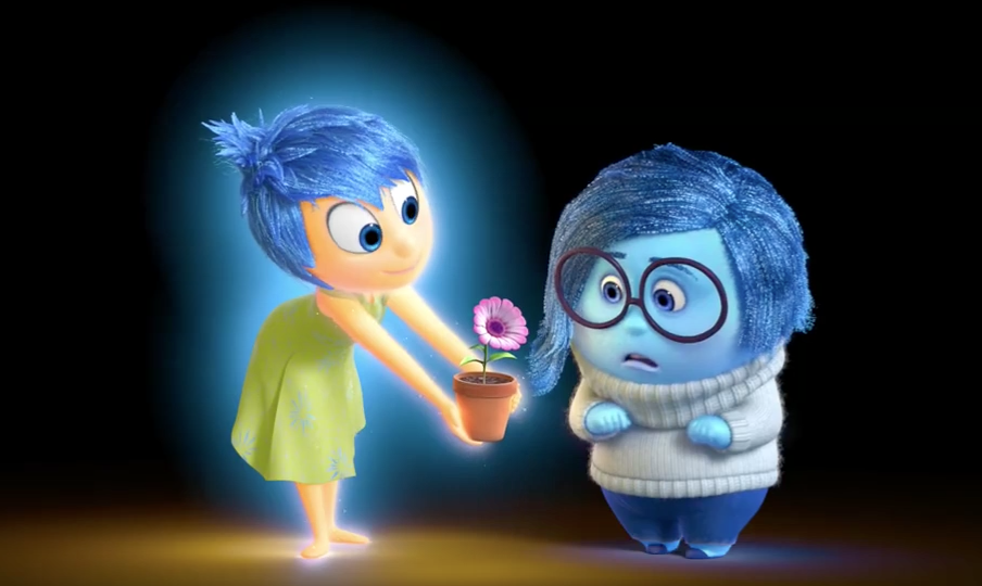 Pixar Post - Inside Out Joy Cheers Up Sadness