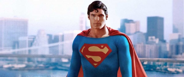 Christopher Reeve Superman Cityscape